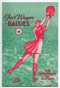 1948 Fort Wayne Daisies Program, Girls Professional Baseball League