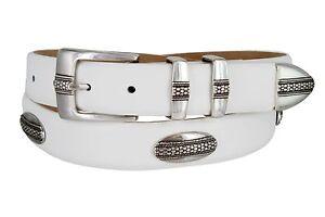"""Scarsdale - Mens Genuine Italian Calfskin Golf Conchos Dress Belt, 1-1/8"""" Wide"""
