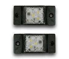2 PCS 12/24V LED FRONT SIDE WHITE MARKER POSITION LIGHTS SCANIA MAN IVECO VOLVO