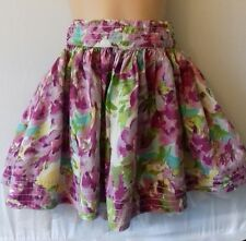 Gap kids age 7 years pink floral lined skirt, hardly worn with adjustable waist
