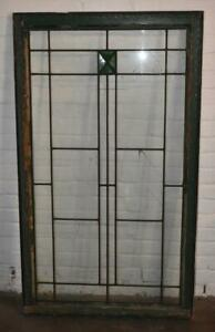 "Arts & Crafts Leaded Glass Window 32"" x 55"""