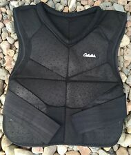 Cabelas Paintball Air Soft Protective Vest Gear Armour Black Hook & Loop Closure