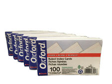 Oxford Ruled Index Cards 3 X 5 White 100pack 7 Packs 700 Cards O1