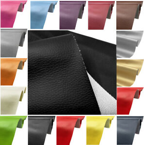 Faux Leather Fabric Soft PU Material Grained Leatherette Clothing Upholstery