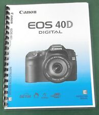 Canon EOS 40D Instruction Manual: Full Color & Protective Covers!