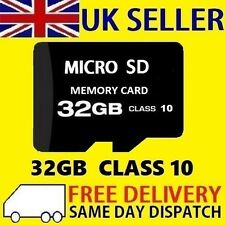 32GB Class 10 Micro SD Card TF SDHC Flash Storage Memory UK 32G NEW
