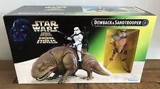 Star Wars Potf Dewback & Sandtrooper Figura Kenner 1997 sin usar y en caja sellada Gratis Reino Unido P&p!