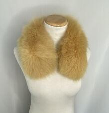 Vintage Giovanni Valentino Fur Collar Wrap Brown