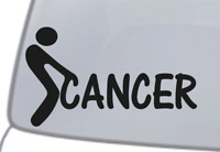 Fuck-Cancer F*ck Cancer Screw Cancer Decal JDM Funny Decal for Car Windows etc