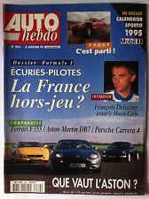 Auto Hebdo 4/01/1995; Interview François Delecour/ Dakar/ Dossier Formule 1