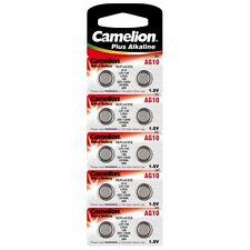 10 Piles bouton CAMELION AG10 LR1130 LR54 389 189 GP89A - Envoi en lettre suivie