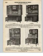 1921 PAPER AD 2 Sided Hosier Type Wooden Kitchen Cupbords Cabinets 8 Models Oak