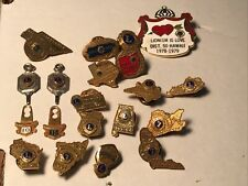 20 VINTAGE ANTIQUE 1959 To 1979 LIONS CLUB PINS GOLD KEY STATE USA
