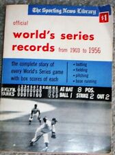 1903-1956 WORLD'S SERIES RECORDS FROM THE SPORTING NEWS LIBRARY