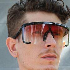 Red Lens Visor for Cloudy Day Sunglasses - Night Glasses Half Face Full UV
