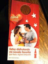 Coca Cola Telenovela Door Tag - 2011 Spanish Latin Coke Soda No Not Disturb Sign