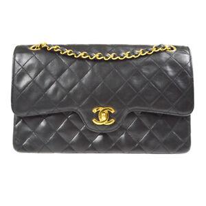 CHANEL Classic Double Flap Medium Chain Shoulder Bag 2777991 vgg Black 90121