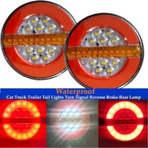 24V LED Car Truck Trailer Tail Lights Turn Signal Light Reverse Brake Rear Lamp