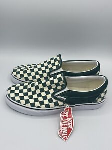 NEW Vans Classic Slip-On Checkerboard Green White Men's Size 9.5-13 VN0A4U382NH