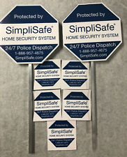 NEW SimpliSafe SECURITY (2)YARD SIGNS & 5 STICKERS ADT   /FREE SHIPPPING/