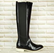 MELVIN & HAMILTON Amelie-14 Black Leather Womens Long High Knee Boots 7 UK 40 EU