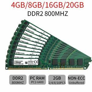 20GB 16GB 8GB 4GB Kit (2x 2GB) DDR2 KVR800D2N6K2/4G DIMM RAM For Kingston ZT LOT