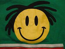 Jewish Reggae BAR MITZVAH Justin Theme Party RASTA Smiley Face T Shirt sz Large