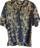 Vintage ROYAL CREATIONS Reverse Printed Hawaiian Shirt Aloha Size L