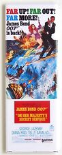 On Her Majesty's Secret Service FRIDGE MAGNET (1.5 x 4.5 inches) movie poster