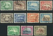 ADEN - 1939 KGVI Set to 5Rs 'CAMEL' FU SG16-26 Cv £20 [9949]