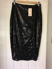 daa4924962ef abbey clancy lipsy Black Sequin Midi Skirt BNWT Size 14