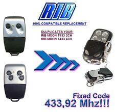 RIB MOON T443-2CH, RIB MOON T443-4CH Compatible Télécommande / Cloner 433,92Mhz