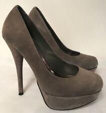 Bottes Steve Madden Caryssa GRIS Chaussures Compensées En Daim Taille: UK 3.5 EUR 36 US 6