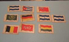 1930's Wilbur Suchard Chocolate Company 10 Flag Card Lot Ireland Germany Russia