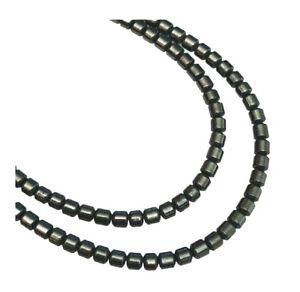 180 Hematite Tiny 2mm Drum Tube Spacer Metallic Black Craft Jewelry Making Beads