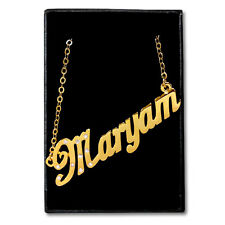 Gold Plated Name Necklace - MARYAM - Gift Ideas For Her - Muslim Birthday Custom