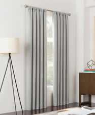 Silver Metropolitan Pleated Curtain Panel - Set of Two
