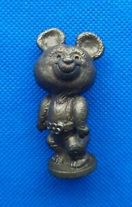 1980 Misha Bear Mascot XXII Olympic Games Bronze Figurine Vintage Nimor USSR ☭