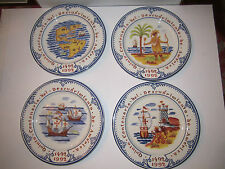"(4) TIFFANY & CO 1992 DECORATIVE COLLECTIBLE PLATES - 8 1/4"" DIAMETER - NICE"