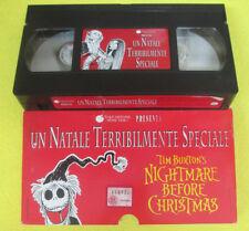 VHS film UN NATALE TERRIBILMENTE SPECIALE Nightmare before christmas(F107)no dvd