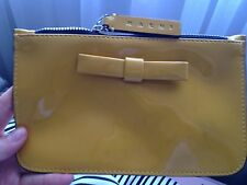 Genuine Designer Marni Leather Patent Yellow Pouch Bow BNWT