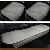 Auto Vorne + Hinten Sitzauflage Sitzbezüge Atmungsaktiv PU Leder Sitzmatte Pads