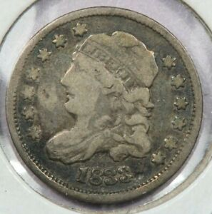 1833 Capped Bust Half Dime F VF uncertified