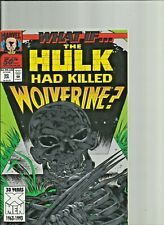 Wolverine days of Future Past #1 Plus What if Hulk Killed Wolverine Marvel Comic