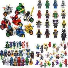 Ninjago Mini Figures Wu Master/Jay/Kai/Sensei/Blocks Fit all building blocks Toy