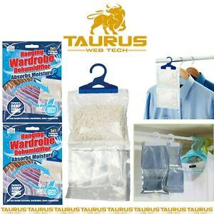 20 Hanging Wardrobe Dehumidifier Damp Mould Mildew Moisture Condensation Trap UK