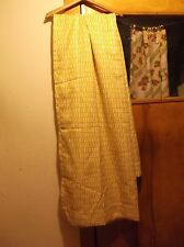 Pair New No Package Drapes Curtains Each About 42 x 82 Inches White & Yellow/Gol