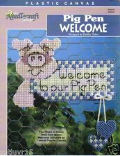 Pig Pen Welcome ~ plastic canvas leaflet