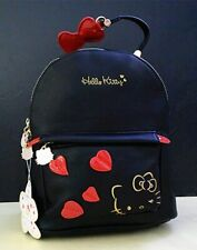 New Women Hello Kitty Backpack High Quality PU Leather Black Shoulder Bag 2020