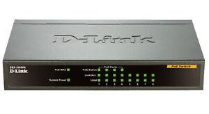 D-Link DES-1008PA 8-Port 10/100Mbps Desktop Switch with 4 PoE Metal Case